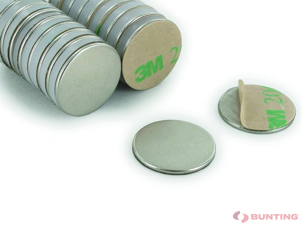 Neodymium Adhesive Backed Disc Magnets