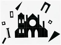 cut out silhouette of building