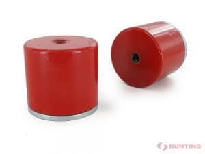 Two red deep pot magnets