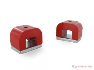 Two red power magnets