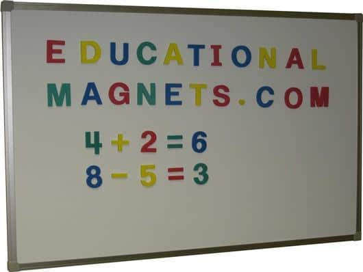 Notice board with magnetic letters