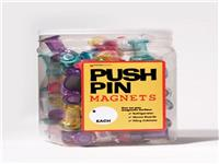 Jar of Push Pin Magnets