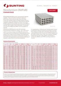 Neodymium Material Data Sheet