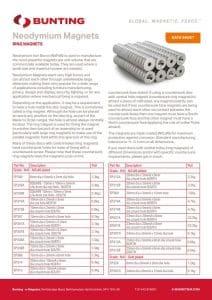 Neodymium Ring Magnets Data Sheet Thumbnail
